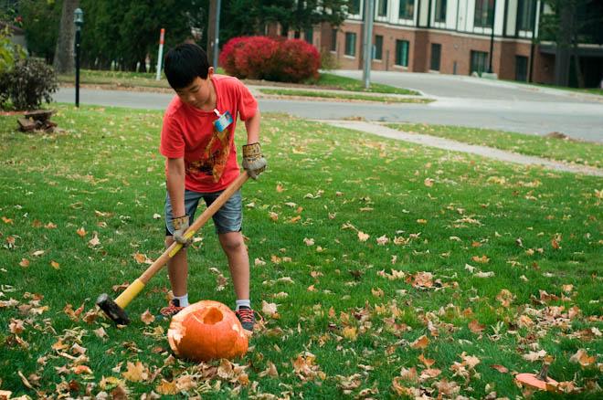 Smashing pumpkins and making pizza